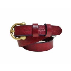 True Religion Women's Italian Made Leather Belt
